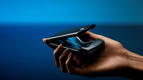 Motorolas nye Razr-telefon.