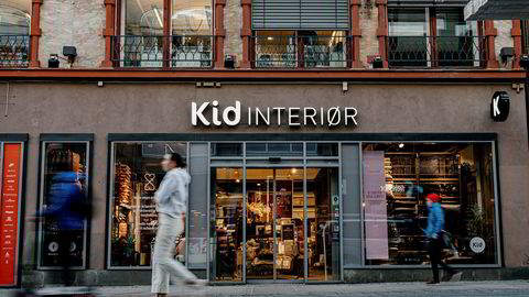 Kid Interiør legger onsdag frem resultater for tredje kvartal. Her fra en butikk i Torggata i Oslo
