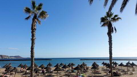 Smittetallet i Spania er over grensen for det Folkehelseinstituttet anser som trygt. Her fra Tenerife.