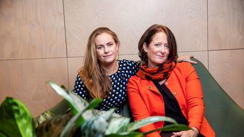 Nora Rydne og Eva Grinde diskuterer lønnsforhandlinger i ukens episode av DNs jobb-podkast «Mandagsmøtet».