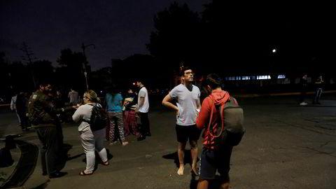 Det kraftige jordskjelvet i det sørlige Mexico kjentes så godt i Mexico City at folk flyktet ut i gatene.
