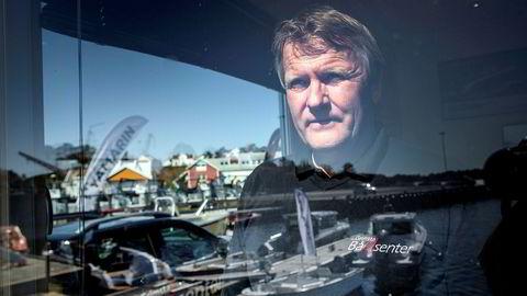 Omsetningen i april er opp 60–70 prosent for Anders Topland hos Grimstad Bådsenter.