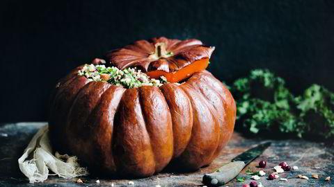 Anvendelig kar. I pai, høstgryte eller fylt til randen med alskens grønne godsaker – gresskar er høstens festmatgarantist. Alle Foto: David Frenkiel