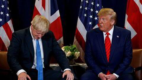 USAs president Donald Trump skjelte ut britenes statsminister Boris Johnson. Bildet er tatt ved en tildigere anledning.