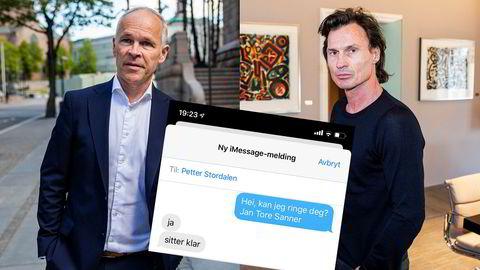 Petter Stordalen og Jan Tore Sanner var i kontakt om regjeringens koronatiltak.