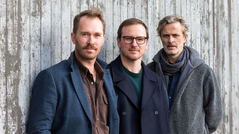 «Blue in grey»: overbevisende fra jazztrioen Eyolf Dale (fra venstre), Per Zanussi og Audun Kleive.