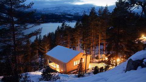 I fin form. I en skråning med furutrær ned mot vannet Drang har arkitektparet Elisabeth Hoem og Stig Folstad skapt drømmehytten, inspirert av de gamle Setesdalsloftene.