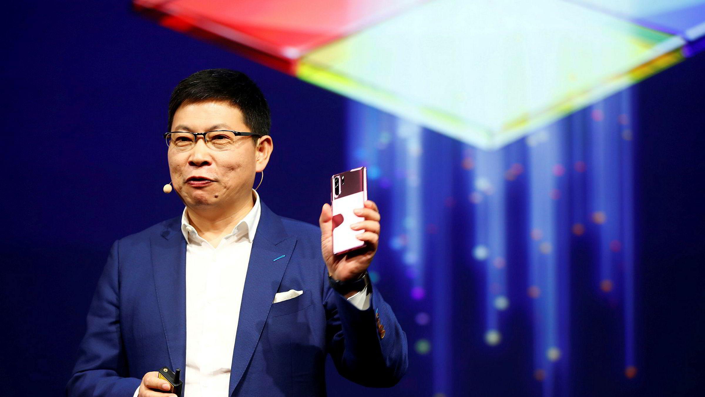 Huawei-direktør Richard Yu lover at oppfølgeren til fjorårssuksessen P30 Pro skal lanseres i vestlige markedet. P40-modellen vil være i salg i første kvartal 2020.