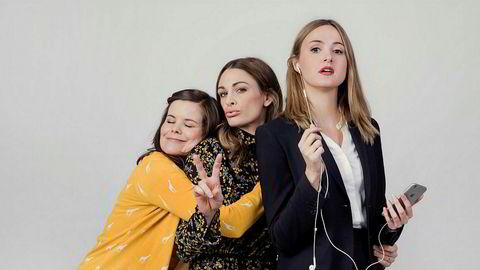 Nestenuhellet. Fra venstre: Ida (Kjersti Tveterås), Camilla (Jenny Skavlan) og Siri (Renate Reinsve), folkehøyskolevenninner som «snubler inn i 30-årene» i første og eneste sesong av NRK-serien «Nesten voksen».