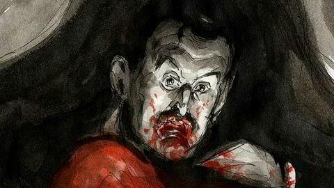 Pastisj. Steffen Kvernelands variant av «Vampyr», et av Edvard Munchs mest kjente malerier.