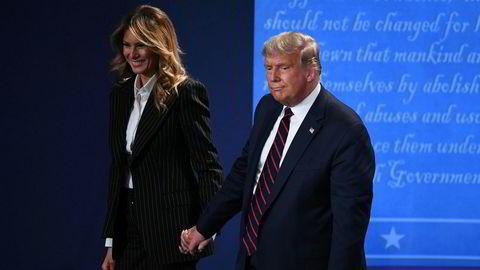 USAs president Donald Trump og førstedame Melania Trump har testet positivt for korona.