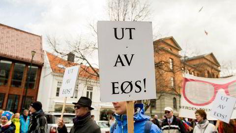 EØS-motstanden har økt siden 1. mai-toget i Trondheim 2015