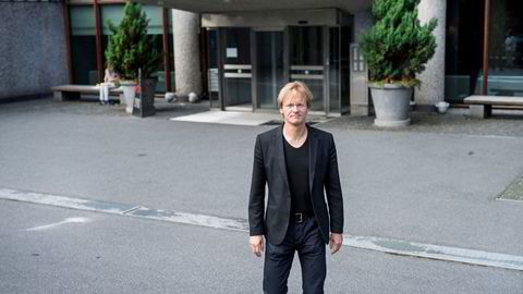 Northzone-partner Bjørn Stray utenfor risikokapitalfondets lokaler på Solli plass i Oslo. Bildet er tatt ved en tidligere anledning.
