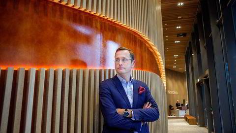 Snorre Storset er administrerende direktør i Nordea Norge. Han kan si seg fornøyd med selskapets resultater i andre kvartal.
