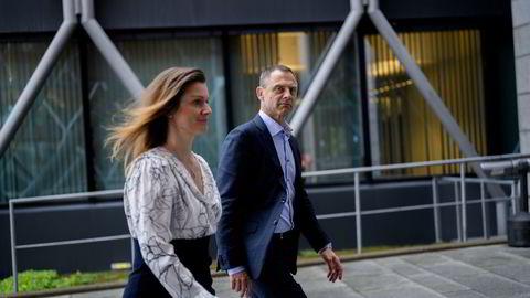Peter Lauring, konsernsjef i Ecit og Christine Lundberg Larsen, Chief Operating Officer i Ecit, er klare for å ta selskapet opp til notering på Euronext Growth. Foto: Fartein Rudjord