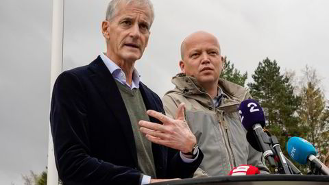 Ap-leder Jonas Gahr Støre og Sp-leder Trygve Slagsvold Vedum varsler en mer aktiv næringspolitikk. Fallgruvene er mange og store, skriver artikkelforfatteren.