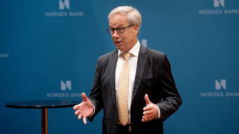 Sentralbanksjef Øystein Olsen satt torsdag opp renten for første gang siden september 2019.
