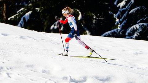 Therese Johaug under langrenn 30 km klassisk for kvinner under VM på ski 2021 i Oberstdorf, Tyskland, en gren innsenderen ikke vil avvikle.