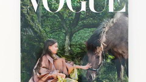 Eksklusivt. Vogue fokuserer på bærekraft og er i hovedsak digitalt. Vil du ha den trykte utgaven med Greta Thunberg på omslaget, må den bestilles i posten.