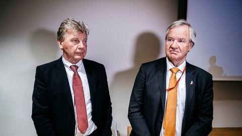 Norwegian-grunnlegger Bjørn Kjos (til høyre), familien og Bjørn Kise fortsetter ut av flyselskapet Norwegian.