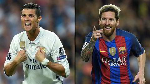 Real Madrids Cristiano Ronaldo og Barcelonas Lionel Messi er verdens fremste fotballspillere - og spiller ukentlig i La Liga, som norske tv-kanaler nå skal kjempe om rettighetene til.