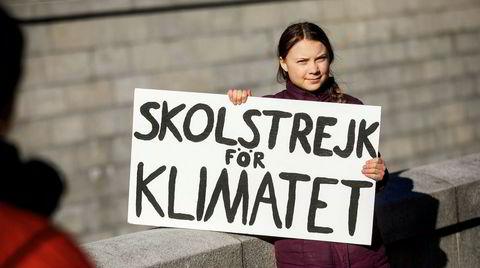 Ung aktivist. Greta Thunberg (16) har i løpet av bare noen måneder klart å sette sin klimakamp på den globale dagsorden.