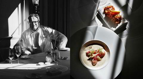 Sunnere enn før. Bent Stiansens sjøkrepssuppe er blitt sunnere med årene. Men han serverer den gjerne med friterte sjøkrepshaler på siden.
