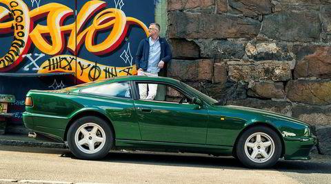 Terje Jacobsen og hans Aston Martin Virage.