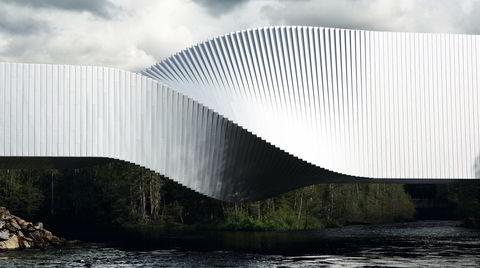 Enkel geometri. Arkitekt Bjarke Ingels mener geometrien i bygget på mange måter er veldig enkel. – Det er en vannrett og en loddrett del, som roterer 90 grader, sier han.