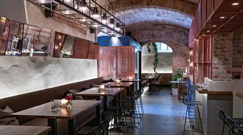 Spisesalen på Fyr bistronomi er en blanding av sakral og industriell.