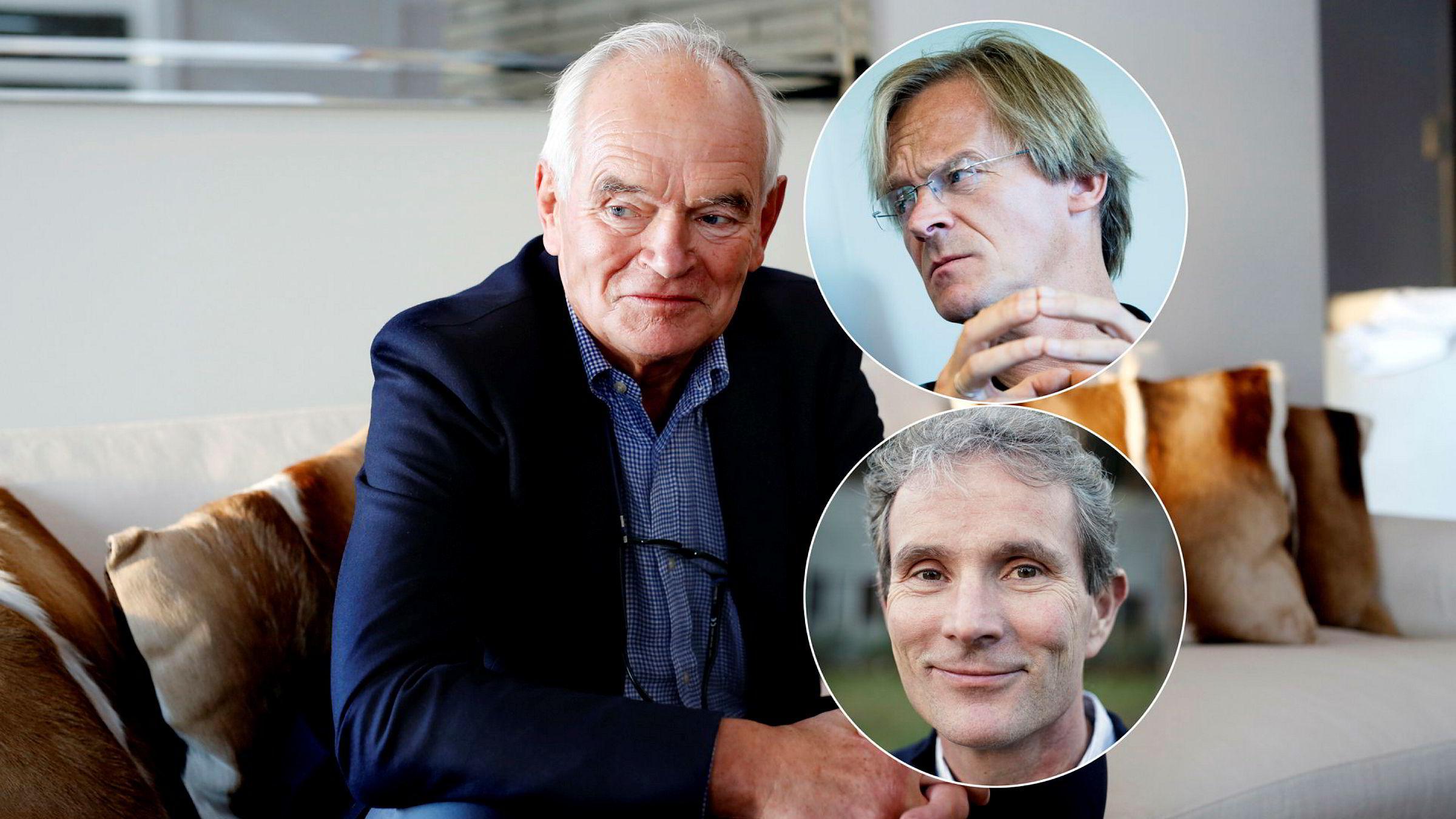 Trond Mohn, Bjørn Stray (innfelt, øverst) og Tellef Thorleifsson er de tre som tjente mest i 2018.