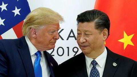 Vi trenger et nytt begrep – superkonflikt – for å forklare den nye normalen i internasjonal politikk hvor USAs hegemoni utfordres av Kina, skriver artikkelforfatteren. Her fra møtet mellom USAs president Donald Trump og Kinas president Xi Jinping i fjor.