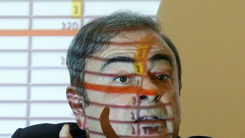 Carlos Ghosn på en pressekonferanse i Beirut etter flukten fra husarrest i Tokyo.