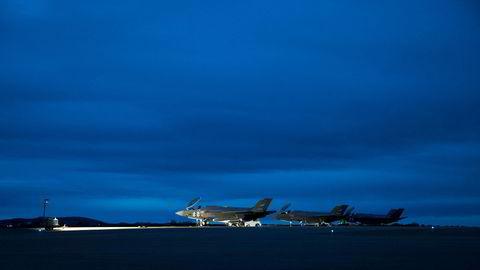 Forsvarets nye fly F35 landet på Ørlandet flyplass forrige uke. Forleøpig har tre fly ankommet Norge.