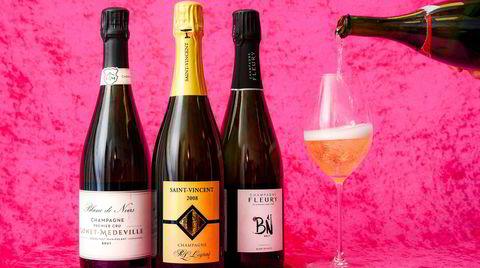 Bobler til nyttår. Gonet-Médeville Premier Cru Blanc de Noirs Brut, Legras St. Vincent 2008 og Fleury BN.