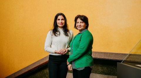 Azra Gilani (til høyre) og datteren Maria. Azra er en aktiv pensjonist og bestemor til seks.