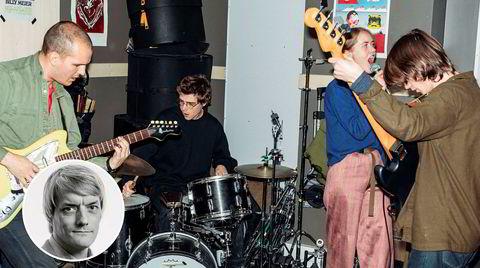 Pom Poko er pastellfarget rock, men likevel et meget logisk resultat av studentlivet på Jazzlinja i Trondheim. Her fanget i øvingslokalet. Fra venstre, Martin Miguel Almagro Tonne, Ola Djupvik, Ragnhild Fangel Jamtveit, Jonas Krøvel.
