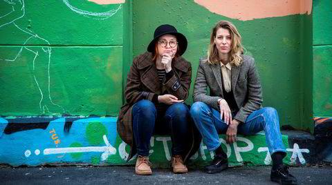 Ida Jackson (t.v.) og Helena Brodtkorb har skrevet en selvhjelpsbok med penge- og karrieretips til kvinner.
