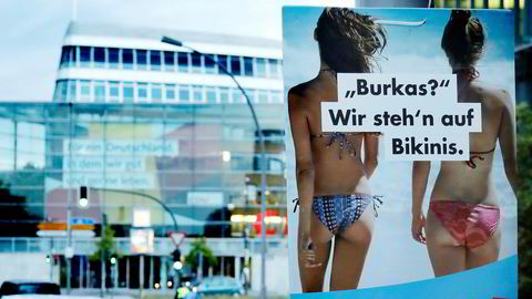 AfDs budskap om bikini fremfor burka vant gehør blant de russiskspråklige i Tyskland.