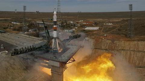 Satelittene ble skutt opp her fra romfartsbasen Bajkonur i Kasakhstan. Her fra en oppskyting tidligere i år.