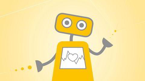 Robotpsykolog. Illustrasjonene i denne saken er basert på elementer fra Woebots app-univers.