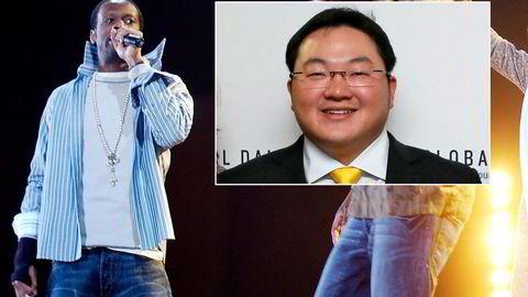 Den tidligere rapstjernen Pras Michel og finansmannen og playboyen Jho Low (innfelt) er tiltalt i USA for å ha forsøkt å påvirke etterforskningen av en av verdens største finansskandaler.