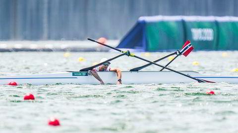 De norske roerne Are Weierholt Strandli og Kristoffer Brun forliste under semifinalen i dobbeltsculler i Tokyo-OL.