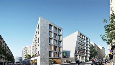 Slik blir Citybox nye hotell i Helsingfors seende ut når det åpner i 2023.