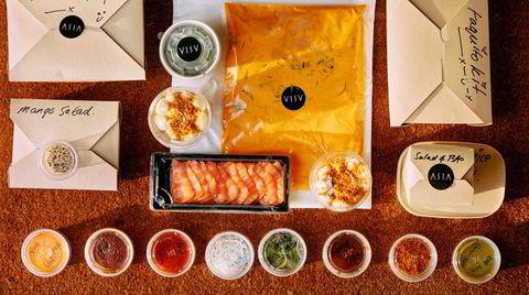 Superpakken med fem forskjellige retter fra Asia Aker Brygge er godt organisert.