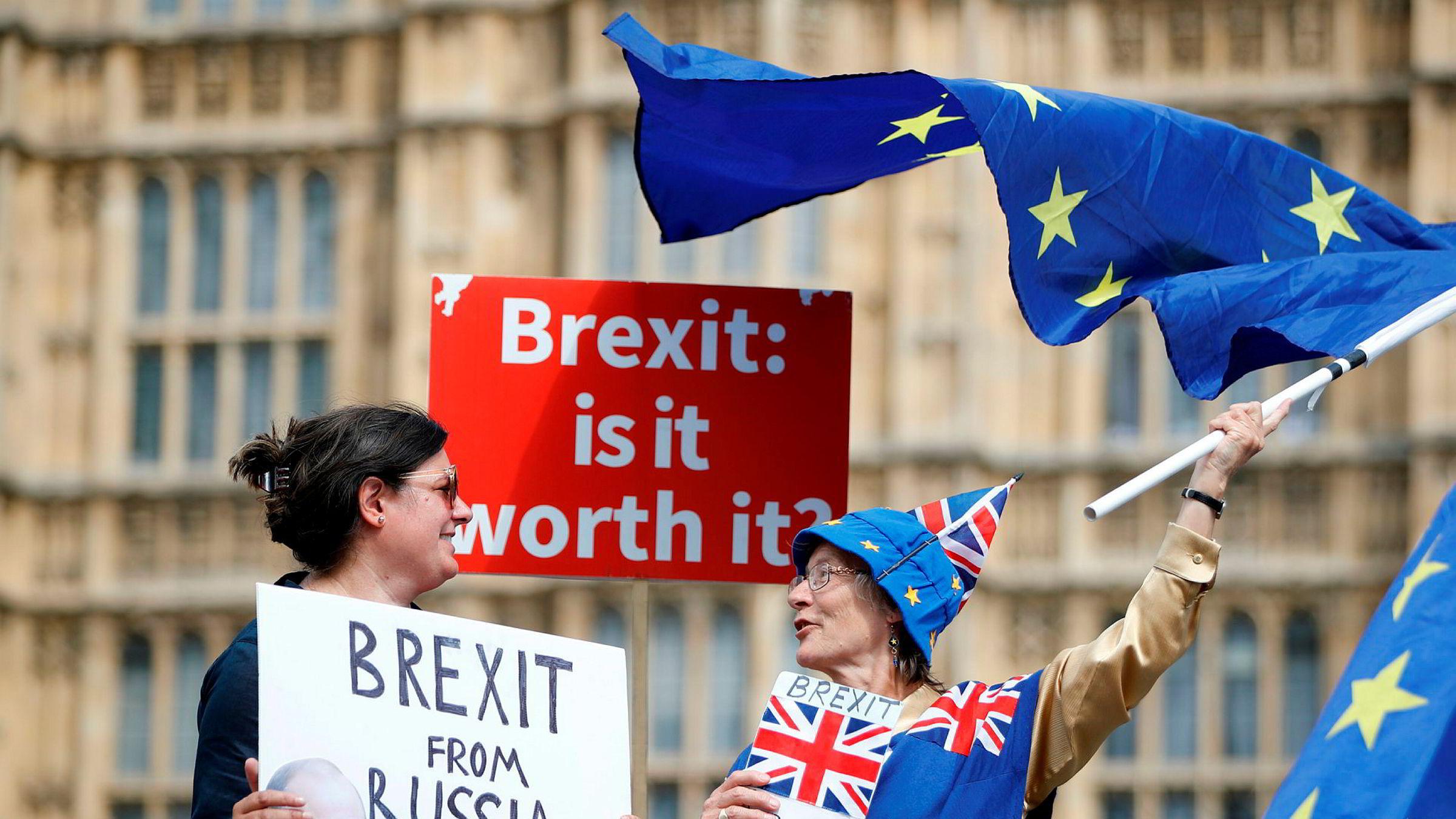Regjeringen greier ikke å finne en realistisk brexit-plan som kan få flertall i parlamentet. Hvis det ikke løser seg, er det bare ett alternativ igjen for Storbritannia: en ny folkeavstemning, skriver innleggsforfatteren Her fra en anti-brexit-demonstrasjon den 4. juli 2018.