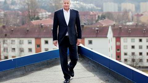 Endre Rangnes er toppsjef i inkassoselskapet Axactor. Selskapet skal samarbeide med investor John Fredriksen om oppkjøp av store gjeldsporteføljer.