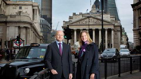 Leder for DNBs London-kontor Ida Lerner og shippingsjef i London, Kjartan Bru, må konsentrere seg om færre kunder i fremtiden. DNBs utlån til shipping er redusert med 30 prosent.