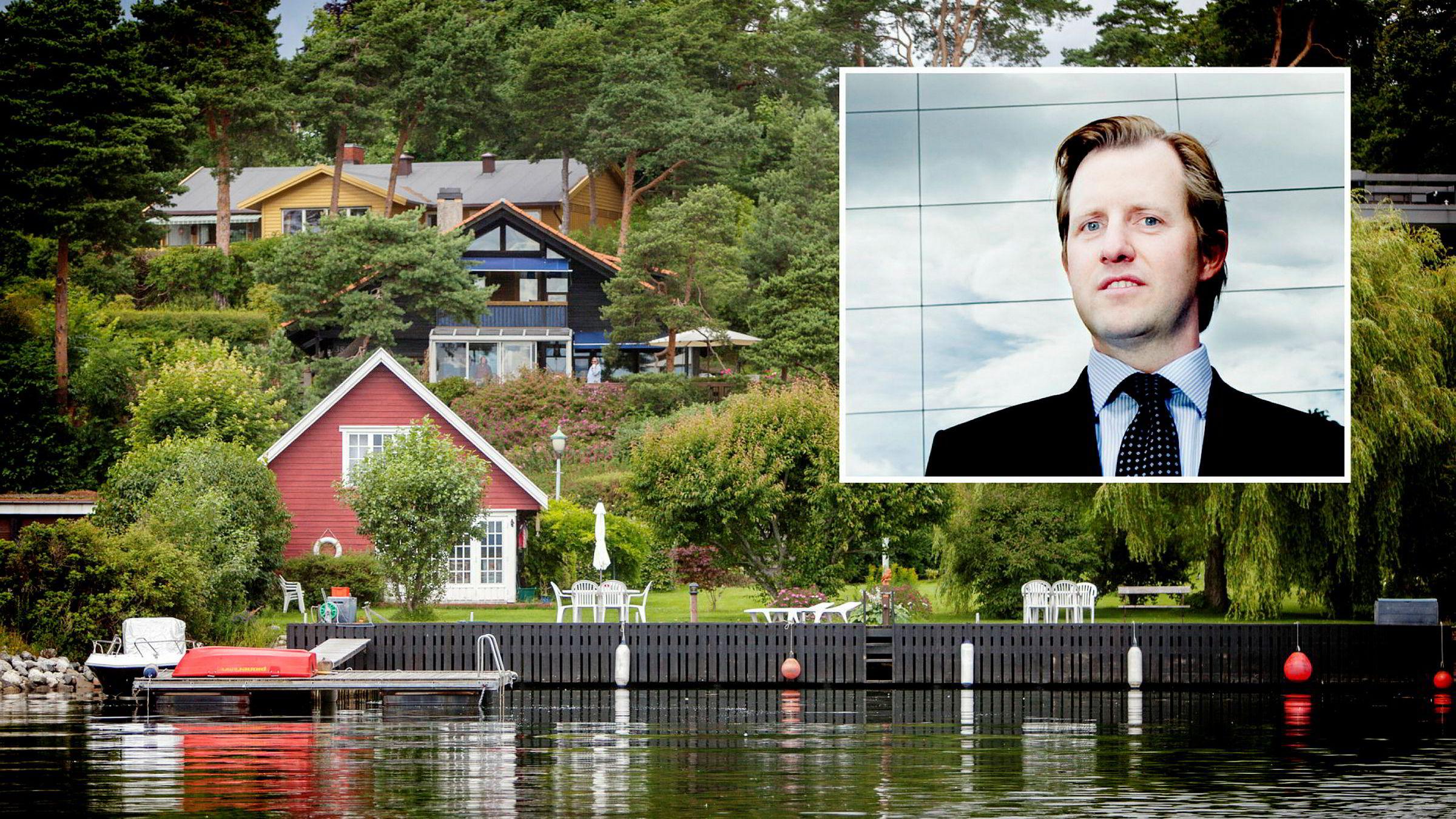 Odd Johnny Winge (bildet) har sikret seg strandeiendommen P.T. Mallings vei 38 på Bygdøy.