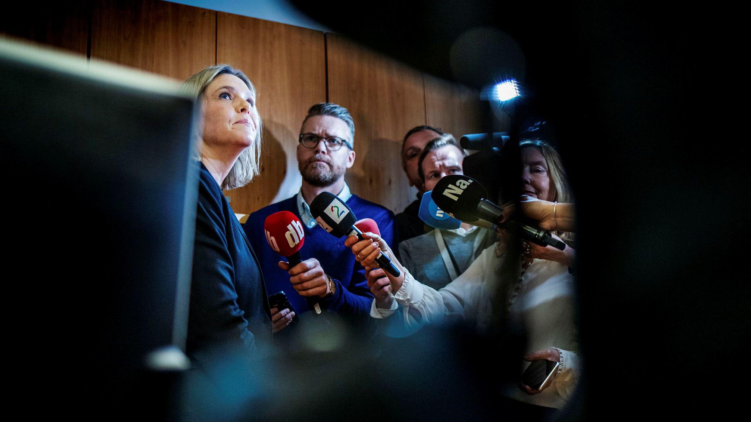 Sylvi Listhaug tok onsdag over statsrådskontoret i Olje- og energidepartementet. Hun vil gjenskape stoltheten for oljenæringen.